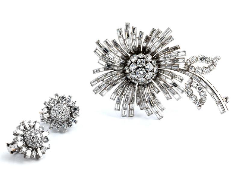 Florales Diamant-Set