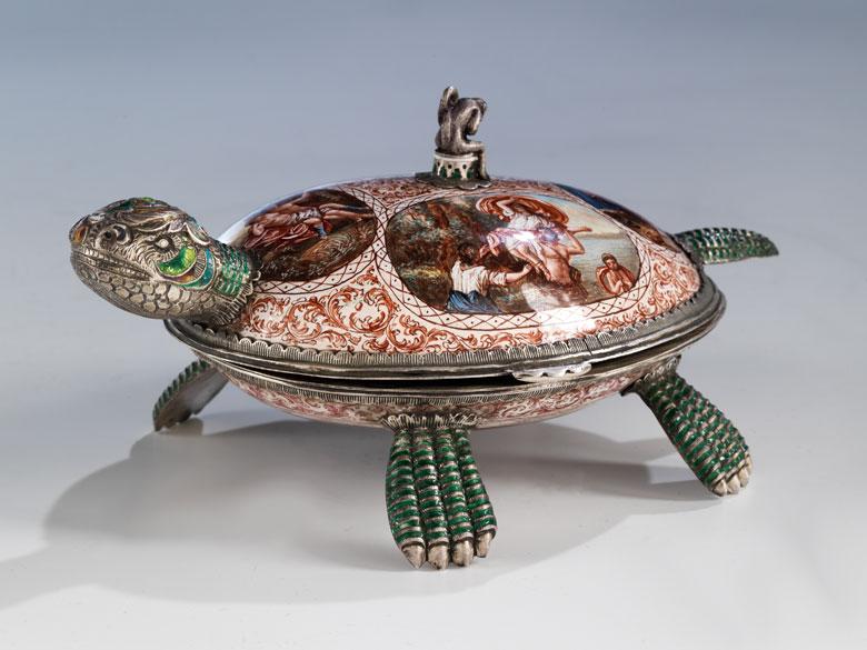 Wiener Dose als Schildkröte
