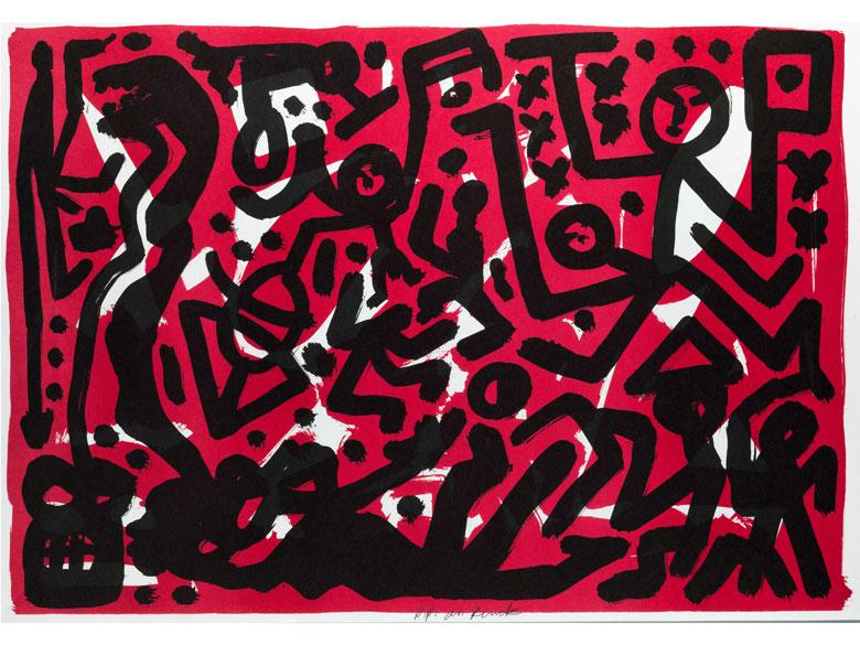 A. R. Penck, 1939 Dresden, lebt in Dublin, Irland