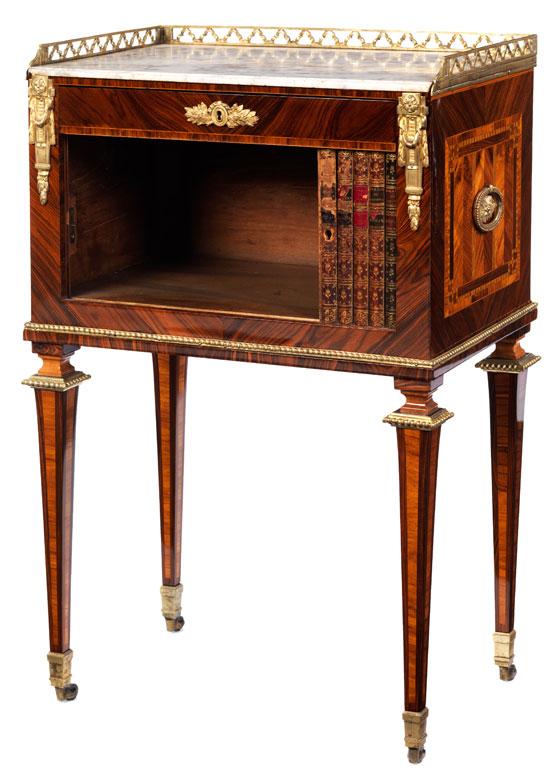 Detailabbildung: Feines Louis XVI Nachttischchen, Gestempelt U201eRVLCu201c ...