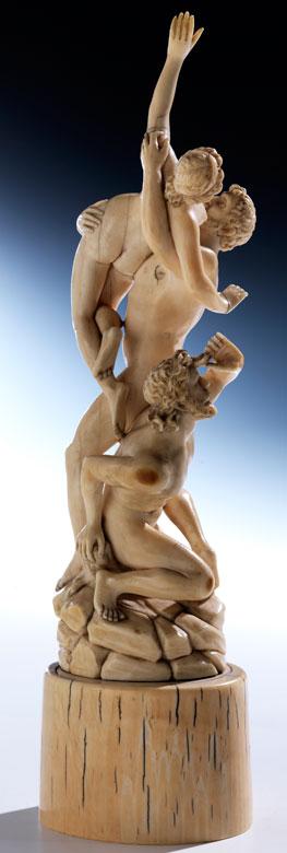 Elfenbeinfigurengruppe des Raub der Sabinerinnen nach Giambologna