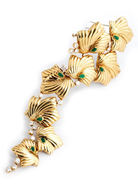 Gold-Brillantbrosche von Boucheron