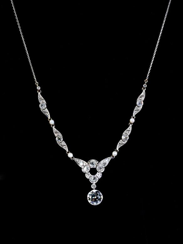 Art déco-Diamantcollier