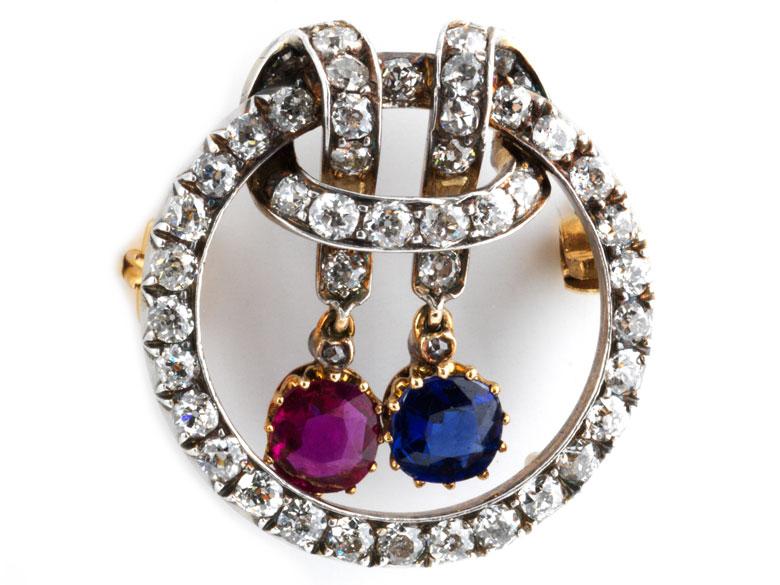 Diamant-Saphir-Rubinbrosche