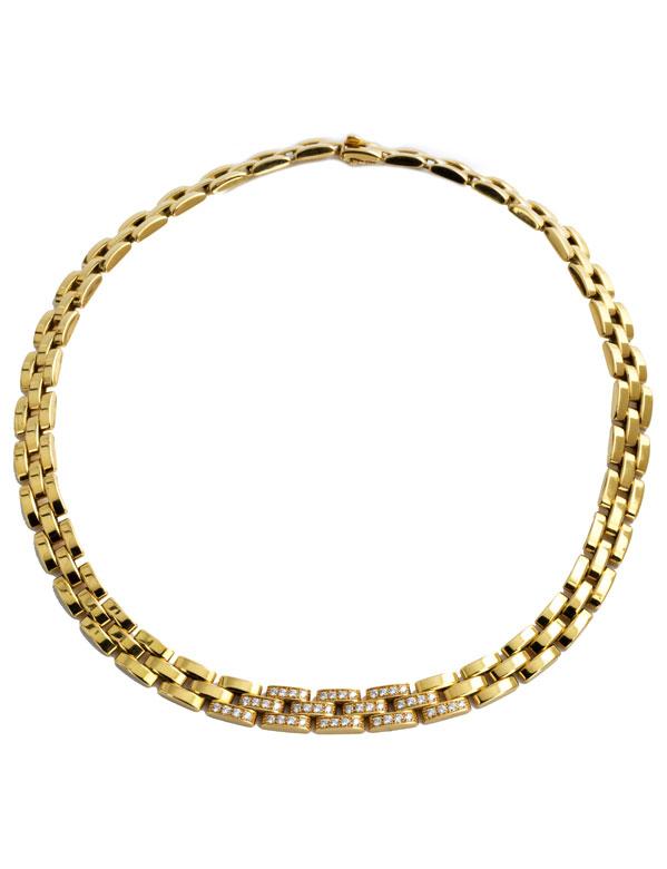 Gold-Brillantcollier von Cartier