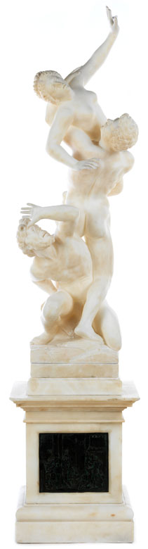 """Marmorfigurengruppe """"Der Raub der Sabinerinnen"""""""