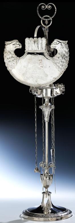 Römische Silber Öllampe