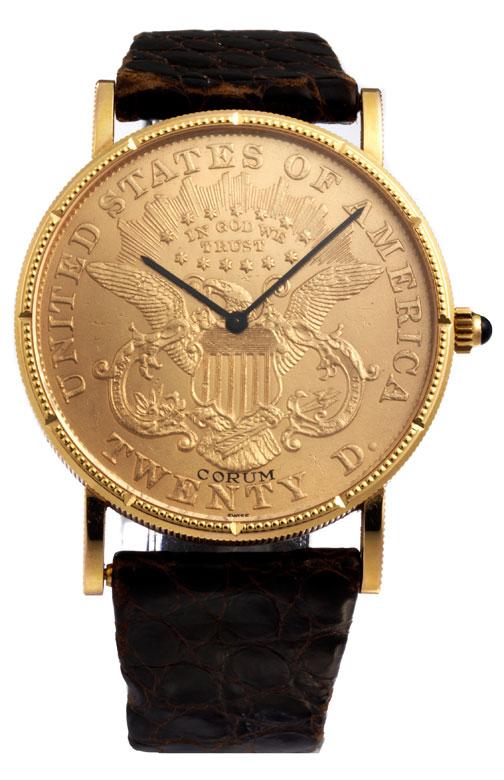 CORUM 20-Dollar Münzuhr