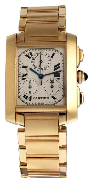 CARTIER Chronograph Francaise in 18 kt Gold
