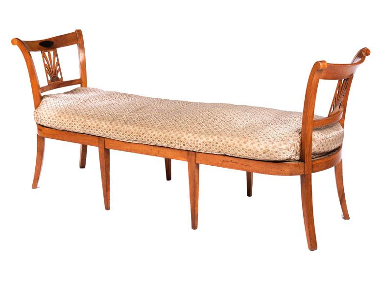 Biedermeier chaiselongue hampel fine art auctions for Biedermeier chaise