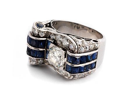 Diamant-Saphirring