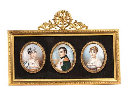 Drei napoleonische Miniaturen