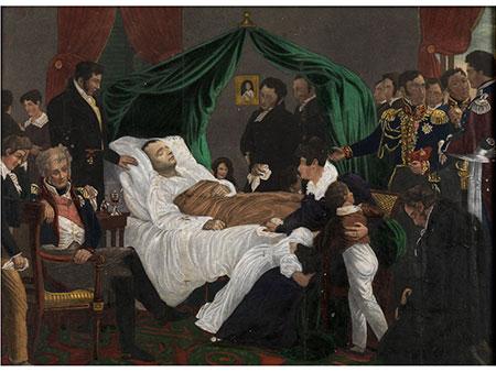 Napoleon auf dem Totenbett