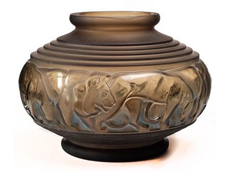 Große Art déco-Vase von Pierre D'Avesn