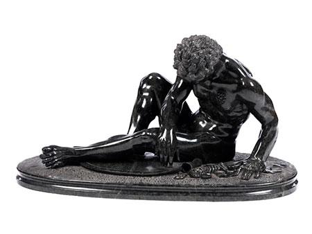 Skulptur des Sterbenden Galliers in Serpentin
