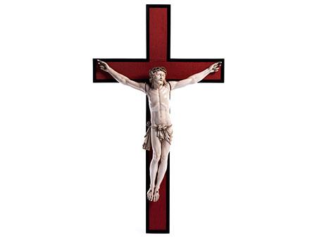 Große Corpus Christi-Figur in Elfenbein