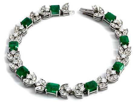 Smaragd-Brillant-Armband