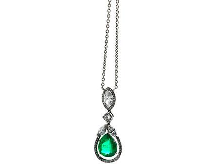 Smaragd-Diamantcollier