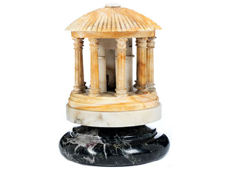 Grand Tour-Objekt in Form eines Minerva-Tempiettos
