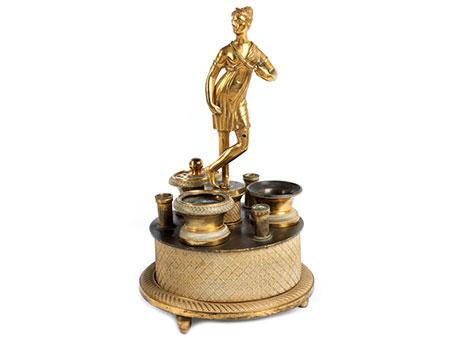 Empire-Schreibzeug mit Bronzefigur
