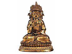 Large Shakyamuni sculpture
