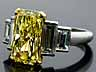 Detail images: Natural Fancy Yellow Diamantring von Cartier