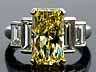 Detailabbildung: Natural Fancy Yellow Diamantring von Cartier