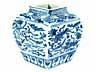 Detail images: Blau-weiße Jiajing Vase
