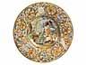 Detail images:  Tiefer Majolika-Teller von Carlo Antonio Grue, 1655 - 1723, und Werkstatt