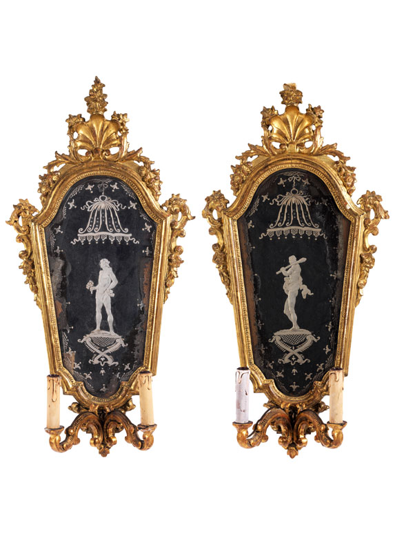 Paar venezianischer Wandblaker