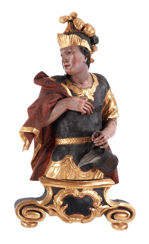 Schnitzbüste des Heiligen Florian