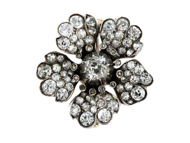 Diamantbroschanhänger