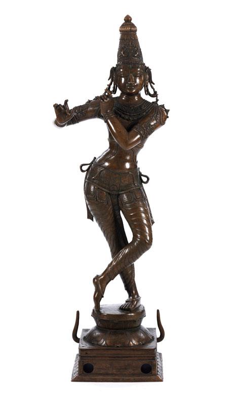 Großer Bronzekrishna