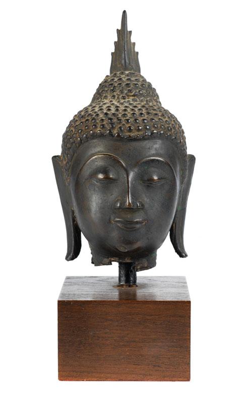 Kopf eines Bronzebuddha