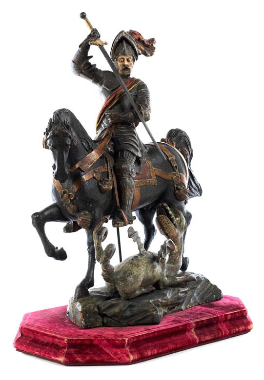 Skulpturengruppe Heiliger Georg im Kampf mit dem Drachen