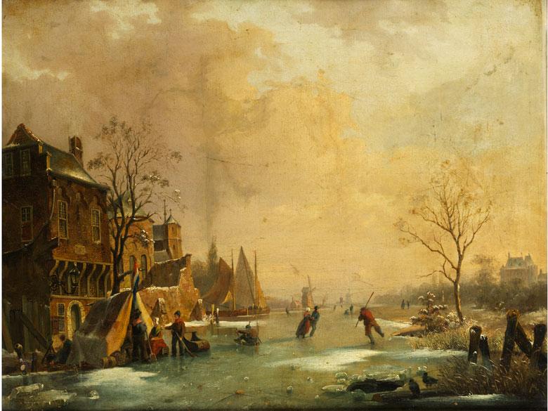 Andreas Schelfhout, 1787 Den Haag - 1870 Den Haag, zug.