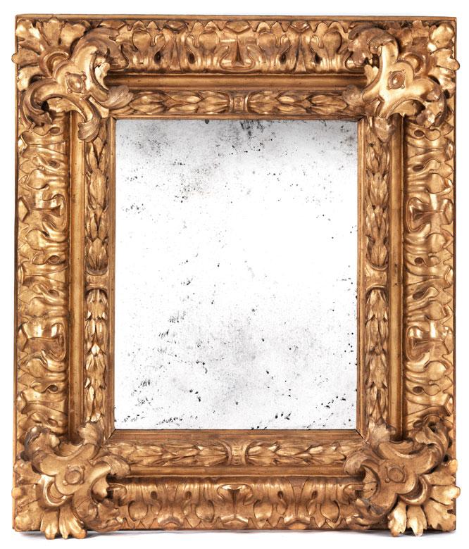 Großer klassizistischer Spiegelrahmen mit Akanthusblattdekor