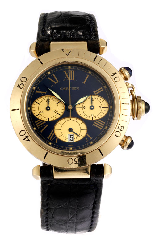 Chronograph von CARTIER Pasha in Gold