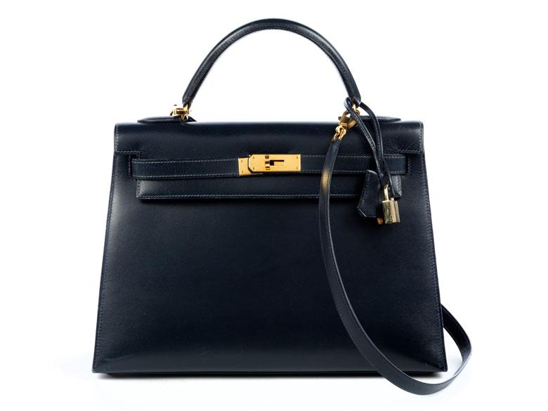 "Hermès Kelly Bag 28 cm ""Bleu marine"""