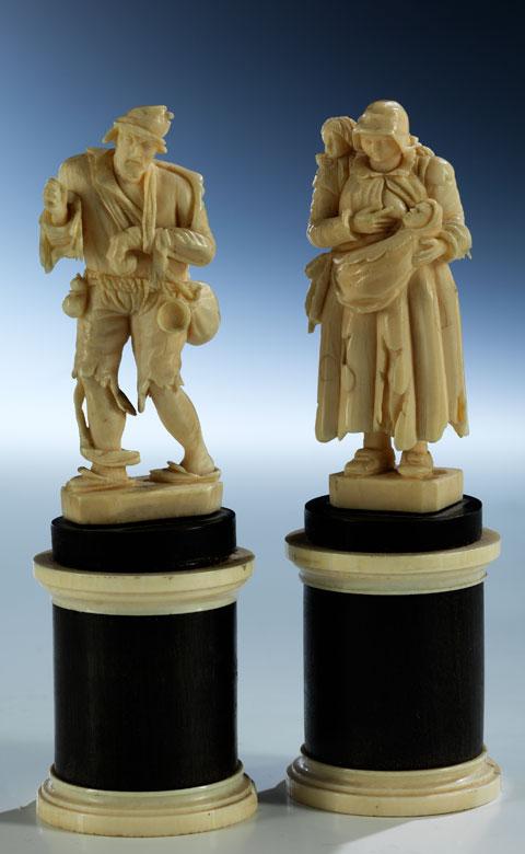 Figurenpaar Bettler