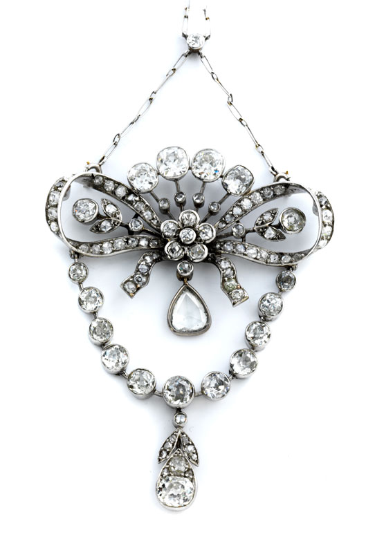 Jugendstil-Diamantcollier