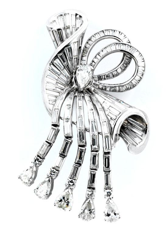 Diamant-Schleifenbrosche