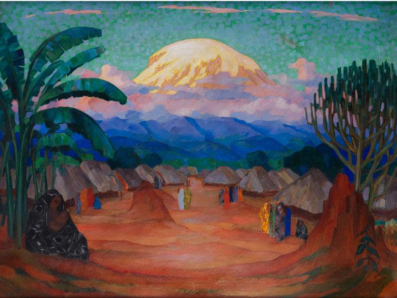 Maler des 20. Jahrhunderts, wohl Aleksey Ilyich Kravchenko, 1889 - 1940, zug.