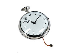 Breguet-Kutscheruhr mit Repetition und Weckerfunktion in Form einer großen Taschenuhr