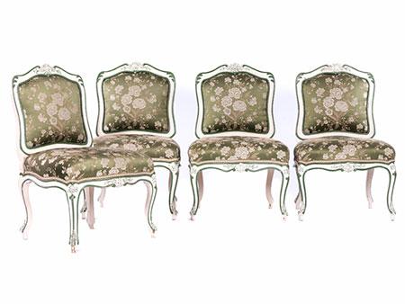 Satz von vier Barock-Stühlen aus dem Besitz der Familie Thurn und Taxis