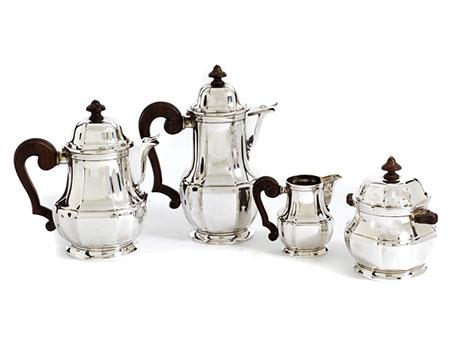 Silberner Kaffee- und Teekern
