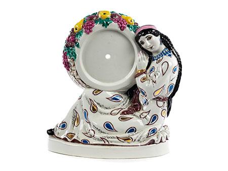 Uhrengehäuse in Porzellan