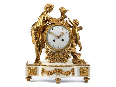 Louis XVI-Kaminuhr mit Venus und Amor