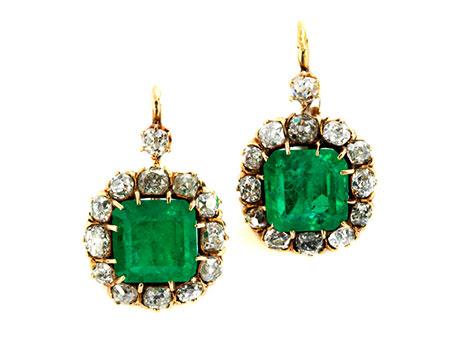Smaragd-Diamantohrhänger