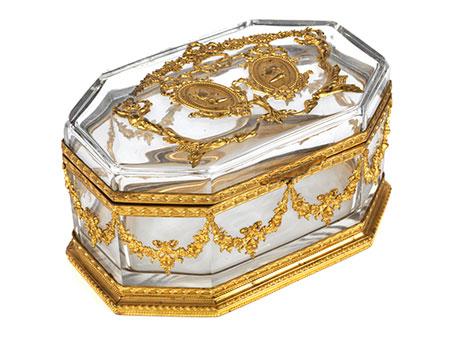 Kristallglasschatulle im Empire-Stil